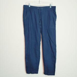Athleta Blue Linen Ankle Pant. Size 8